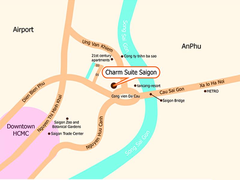 참스위트 호텔 맵