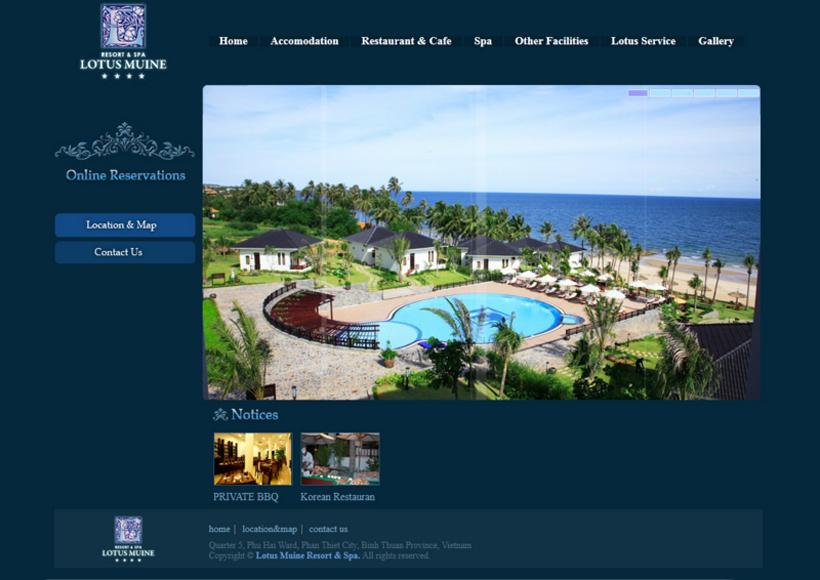 3_1베트남 리조트 웹사이트 제작, resort website,vietnam design company