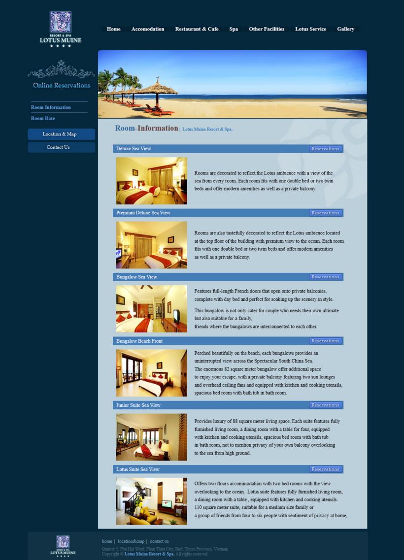 3_2 베트남 리조트 웹사이트 제작, resort website,vietnam design company