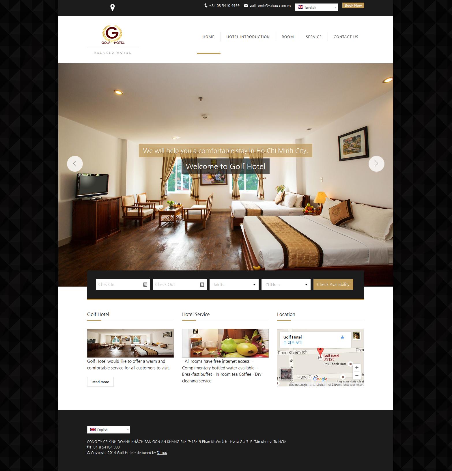 golf hotel website design, wordpress website design in vietnam,호텔 홈페이지 디자인, 워드프레스 웹사이트 가격