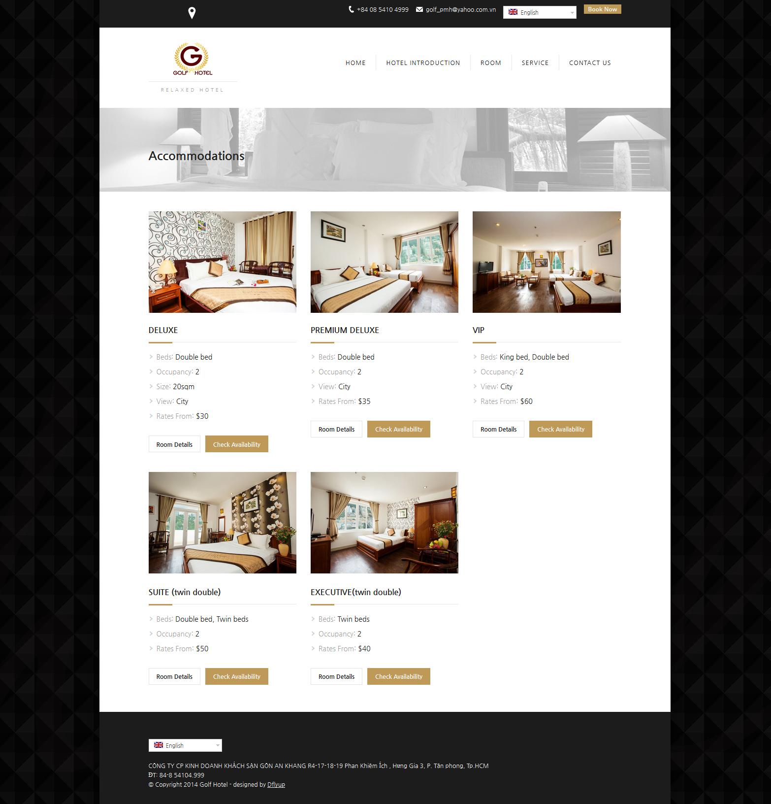 hotel website design, wordpress website design in vietnam,호텔 홈페이지 디자인, 워드프레스 웹사이트 가격